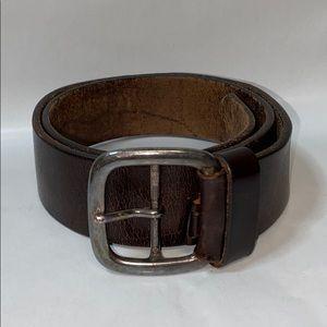Vintage made in Italy dark brown leather belt